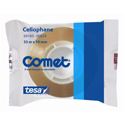 SCOTCH NASTRO ADESIVO COMET IN CELLOPHANE TRASPARENTE 33X15MM